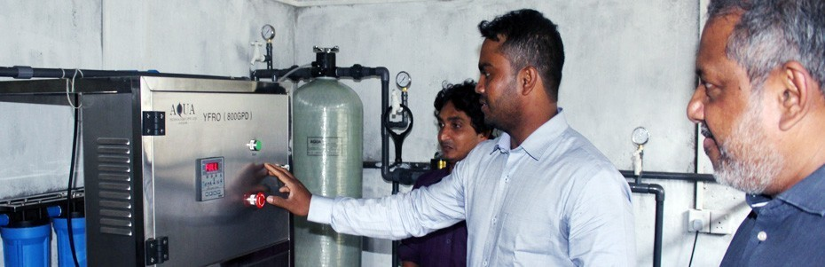 Water purification unit, Wahamalgollawa, Anuradhapura District